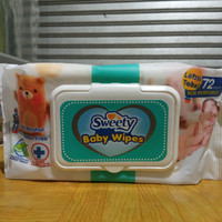 Sweety Baby Wipes Non Perfumed 80+4 sheets