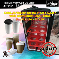 Tas Delivery Cup AC117 | Tas Kurir Motor Minuman Makanan | Cooler Bag