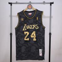 Jersey Basket Swingman NBA Los Angeles Lakers Kobe Bryant Black Gold 1 - S