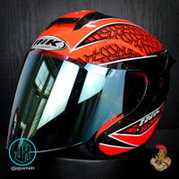 INK HELM DYNAMIC #2 + IRIDIUM VISOR | RED FLUO BLCK | +SPOILER DINAMIC