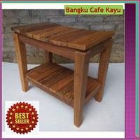 Bangku Cafe Kayu Antik UNIK utk Cafe, Teras Rumah, Taman dan Outdoor
