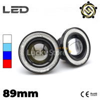 Lampu LED Foglamp / Foglight Angel Eyes 89mm Projector Universal
