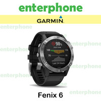 Garmin Fenix 6 Pro Solar Black with Slate Gray Band Garansi Resmi