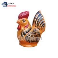Celengan Ayam Dari GerabahTanah Liat Ukuran Sedang Orange