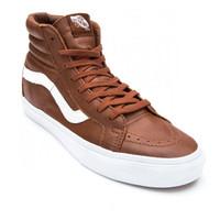 Sepatu Vans SK8 Hi PREMIUM LEATHER Sneakers Pria Original - LIMITED ED