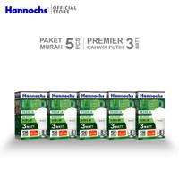 Hannochs - Lampu LED Premier - 3 watt - Cahaya Putih (Paket 5 PCS)