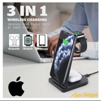 Wireless Charger 3in1 Multi-Function Charging Stand For Apple