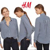 HnM Blouse Stripe Shrit Polyester - M