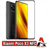 Tempered Glass XIAOMI POCO X3 NFC Full Cover Anti Gores Kaca Warna