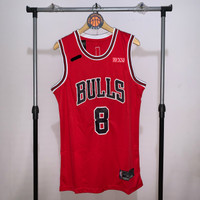 Jersey Basket Swingman NBA Chicago Bulls Zach LaVine merah red hitam