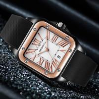 REBIRTH jam tangan wanita Tali silikon Tahan Air Jam Bisnis Kasual jam