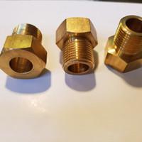 Nut Tabung Silinder 5/8 BSP DRAT KANAN/ NEPEL N2 OKSIGEN