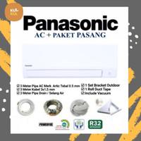 AC Panasonic CS/CU-YN7WKJ 3/4 PK TERMASUK PASANG & MATERIAL 3 METER.
