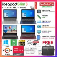 LAPTOP LENOVO IDEAPAD SLIM 3 - AMD ATHLON 3050U 4GB 512GB 14 FHD W10