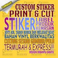 Print and Cut Stiker Label, Stiker Produk, Stiker Kemasan TERMURAH - CM2