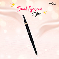 YOU Basic Collection Dual Eyebrow Styler YOU Makeup - Dark Brown