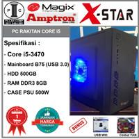 Komputer Rakitan i5-3470/DDR3 8GB/HD 500GB/B75/PSU 500W [B01]