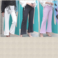 Lilac pants/scuba pants/office look style/celana panjang scuba cewe