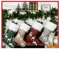 Big Hiasan Gantung Bentuk Kaos Kaki Motif Natal Untuk Dekorasisouvenir