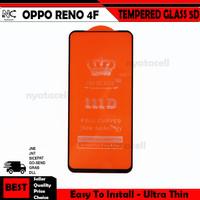 Oppo Reno 4F Tempered Glass Warna Full 5D / Kaca Premium Curved