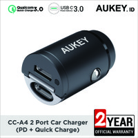 Charger Mobil Aukey CC-A4 2 Port (PD + Quick Charge) - 500593