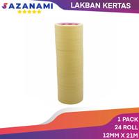 Lakban Kertas Masking Tape 1/2 Inch 12mm x 21m Sazanami isolasi