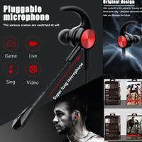 XG-122 Headset Gaming PUBG Mobile Legend With Mic Headphone earphone - Merah