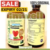 Childlife Cod Liver Oil Vitamin Nutrisi Anak (8oz) - 100% Original