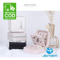 4Jenis Mini Kotak Perhiasan PU-Anting Kalung Cincin Penyimpanan Kasus