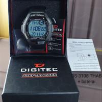 Jam Tangan Digitec Tracker Original 3108 Rubber Black Grey Grnsi 6 Bln