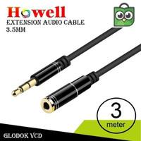 Howell Kabel Audio Sambungan Aux 3.5mm 3m / Extention mini 3 meter