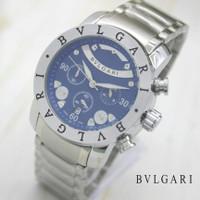 Jam Tangan Pria BVLGARI Chronograph Aktif
