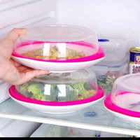 Penutup Piring Makanan Microwave Kulkas Cover Tutup Tudung Makanan
