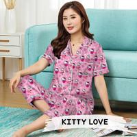Monalisa Piyama Dewasa CP Jumbo - Kitty Love