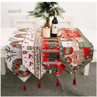 Taplak Meja Model Rajut Desain Natal Untuk Dekorasi Rumah