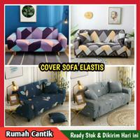 Cover Sofa 1 2 3 Seater Sarung Sofa Elastis Penutup Sofa - Zigzag Warna, 1 Seater