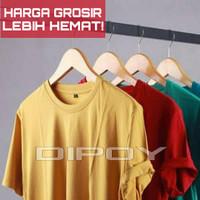 Kaos Polos Katun Bambu O/V Neck - Cotton Bamboo Tshirt Original