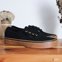 Vans Authentic Black Gum - Sepatu Pria Original 100%
