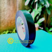 Double Tape PE Foam hitam ( liner hijau ) , 22mm x 5 Meter tebal 1mm
