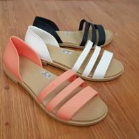 New Arrival Sendal Wanita Crocs Tulum Flat Shoes Original