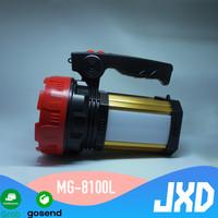 Senter LED 50 Watt Searchlight + Power Bank + Lampu Meja Matsugi 8100L