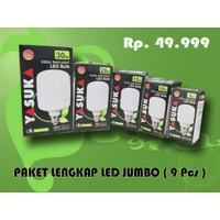 Paket Komplit Lampu Jumbo LED ( 9 Pcs ) - Murah