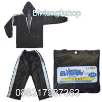 All Size Jas hujan Jaket Celana - Elmondo LEXI warna Hitam
