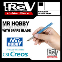 MR HOBBY DESIGN KNIFE WITH SPARE BLADE