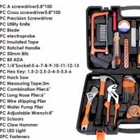 Tool Kit Tool Set Home Tool 112 Pcs Full Set Lengkap