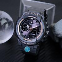Jam Tangan Wanita Digitec Dual Time DG 2111 T Original - Hitam Emas