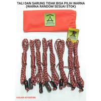 Paket Tali prusik dan Stopper guyline untuk flysheet dan tenda