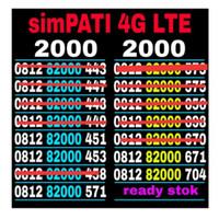 nomor cantik simpati 4G LTE SERI 0812-8000-8000 MURAH