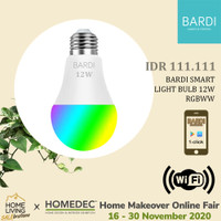 BARDI Smart LIGHT BULB RGB+WW 12W Wifi Wireless IoT - Home Automation