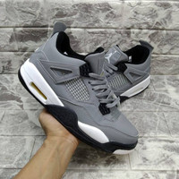 air jordan 4 retro cool grey premium /sepatu basket /sneakers